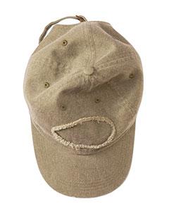 Khaki Green Pigment-Dyed Raw-Edge Patch Baseball Cap