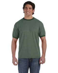 Mallard 6 oz. Direct-Dyed Heather Ringer T-Shirt