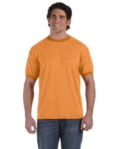 Pumpkin 6 oz. Direct-Dyed Heather Ringer T-Shirt