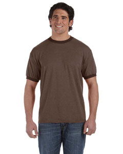 Java 6 oz. Direct-Dyed Heather Ringer T-Shirt