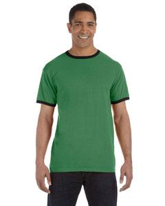 Clover/black 5.6 oz. Pigment-Dyed Ringer T-Shirt