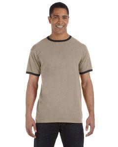 Mocha/black 5.6 oz. Pigment-Dyed Ringer T-Shirt