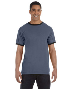 Denim/black 5.6 oz. Pigment-Dyed Ringer T-Shirt
