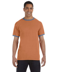 Yam/blue 5.6 oz. Pigment-Dyed Ringer T-Shirt