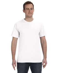 White 5.6 oz. Pigment-Dyed & Direct-Dyed Ringspun T-Shirt