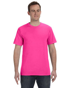 Neon Pink 5.6 oz. Pigment-Dyed & Direct-Dyed Ringspun T-Shirt