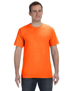Neon Orange 5.6 oz. Pigment-Dyed & Direct-Dyed Ringspun T-Shirt