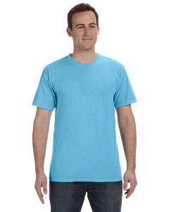 Neon Blue 5.6 oz. Pigment-Dyed & Direct-Dyed Ringspun T-Shirt