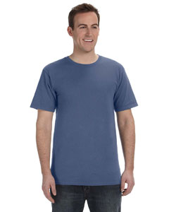 Indigo 5.6 oz. Pigment-Dyed & Direct-Dyed Ringspun T-Shirt