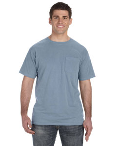 Bay 5.6 oz. Pigment-Dyed & Direct-Dyed Ringspun Pocket T-Shirt