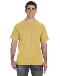 Mustard 5.6 oz. Pigment-Dyed & Direct-Dyed Ringspun Pocket T-Shirt