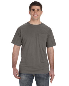 Smoke 5.6 oz. Pigment-Dyed & Direct-Dyed Ringspun Pocket T-Shirt