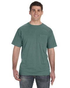 Blue Granite 5.6 oz. Pigment-Dyed & Direct-Dyed Ringspun Pocket T-Shirt