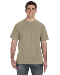 Mocha 5.6 oz. Pigment-Dyed & Direct-Dyed Ringspun Pocket T-Shirt