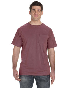 Brick 5.6 oz. Pigment-Dyed & Direct-Dyed Ringspun Pocket T-Shirt