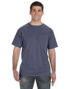 Denim 5.6 oz. Pigment-Dyed & Direct-Dyed Ringspun Pocket T-Shirt