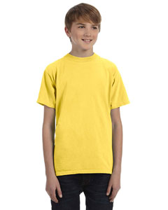Neon Yellow Youth 5.6 oz. Pigment-Dyed & Direct-Dyed Ringspun T-Shirt