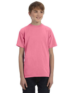 Neon Pink Youth 5.6 oz. Pigment-Dyed & Direct-Dyed Ringspun T-Shirt