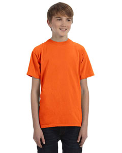 Neon Orange Youth 5.6 oz. Pigment-Dyed & Direct-Dyed Ringspun T-Shirt