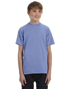 Periwinkle Youth 5.6 oz. Pigment-Dyed & Direct-Dyed Ringspun T-Shirt