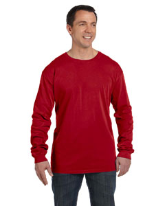 Chili 5.6 oz. Pigment-Dyed & Direct-Dyed Ringspun Long-Sleeve T-Shirt