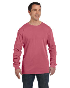 Nautical Red 5.6 oz. Pigment-Dyed & Direct-Dyed Ringspun Long-Sleeve T-Shirt