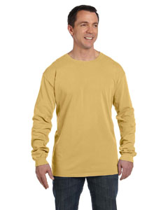 Mustard 5.6 oz. Pigment-Dyed & Direct-Dyed Ringspun Long-Sleeve T-Shirt