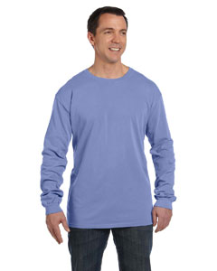 Periwinkle 5.6 oz. Pigment-Dyed & Direct-Dyed Ringspun Long-Sleeve T-Shirt