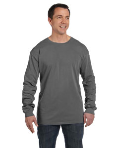 Smoke 5.6 oz. Pigment-Dyed & Direct-Dyed Ringspun Long-Sleeve T-Shirt