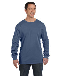 Indigo 5.6 oz. Pigment-Dyed & Direct-Dyed Ringspun Long-Sleeve T-Shirt