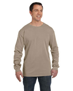 Mocha 5.6 oz. Pigment-Dyed & Direct-Dyed Ringspun Long-Sleeve T-Shirt
