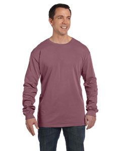 Brick 5.6 oz. Pigment-Dyed & Direct-Dyed Ringspun Long-Sleeve T-Shirt
