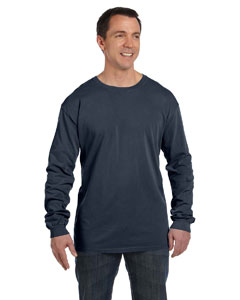 Navy 5.6 oz. Pigment-Dyed & Direct-Dyed Ringspun Long-Sleeve T-Shirt