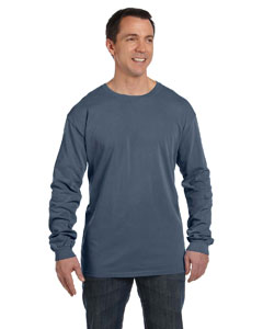 Denim 5.6 oz. Pigment-Dyed & Direct-Dyed Ringspun Long-Sleeve T-Shirt