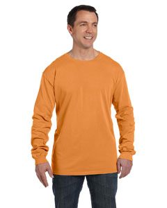 Pumpkin 5.6 oz. Pigment-Dyed & Direct-Dyed Ringspun Long-Sleeve T-Shirt