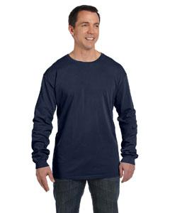 Deep Navy 5.6 oz. Pigment-Dyed & Direct-Dyed Ringspun Long-Sleeve T-Shirt