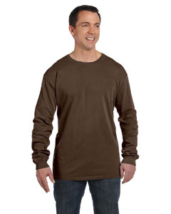 Java 5.6 oz. Pigment-Dyed & Direct-Dyed Ringspun Long-Sleeve T-Shirt