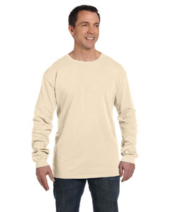 Oyster 5.6 oz. Pigment-Dyed & Direct-Dyed Ringspun Long-Sleeve T-Shirt