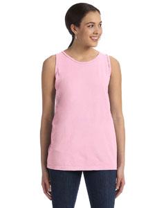 Pink Women's' 5.6 oz. Pigment-Dyed & Direct-Dyed Ringspun Tank
