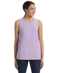Lavender Women's' 5.6 oz. Pigment-Dyed & Direct-Dyed Ringspun Tank