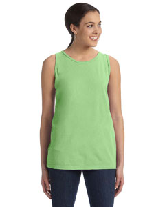 Neon Green Women's' 5.6 oz. Pigment-Dyed & Direct-Dyed Ringspun Tank
