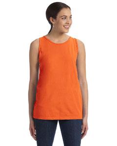 Neon Orange Women's' 5.6 oz. Pigment-Dyed & Direct-Dyed Ringspun Tank
