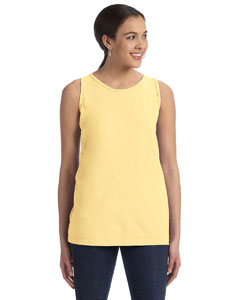 Goldenrod Women's' 5.6 oz. Pigment-Dyed & Direct-Dyed Ringspun Tank