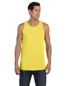 Neon Yellow 5.6 oz. Pigment-Dyed Cotton Tank