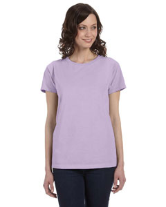 Lavender Women's 5.6 oz. Pigment-Dyed & Direct-Dyed Ringspun T-Shirt