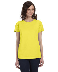 Neon Yellow Women's 5.6 oz. Pigment-Dyed & Direct-Dyed Ringspun T-Shirt