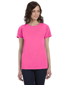 Neon Pink Women's 5.6 oz. Pigment-Dyed & Direct-Dyed Ringspun T-Shirt