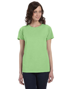 Neon Green Women's 5.6 oz. Pigment-Dyed & Direct-Dyed Ringspun T-Shirt