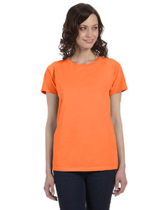 Neon Orange Women's 5.6 oz. Pigment-Dyed & Direct-Dyed Ringspun T-Shirt