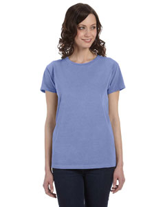 Periwinkle Women's 5.6 oz. Pigment-Dyed & Direct-Dyed Ringspun T-Shirt